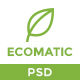 Ecomatic - PSD Template for Renewable Energy Businesses - ThemeForest Item for Sale