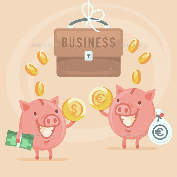 Business and Piggy Bank - Concepts Business