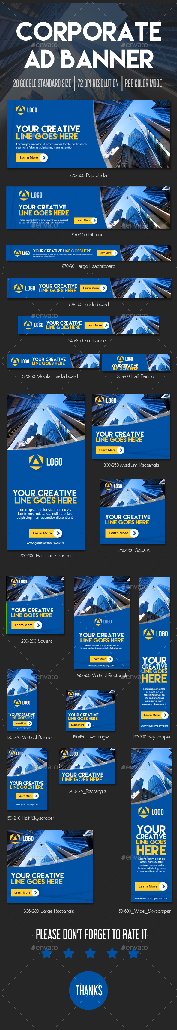 Corporate Ad Banner - Banners & Ads Web Elements