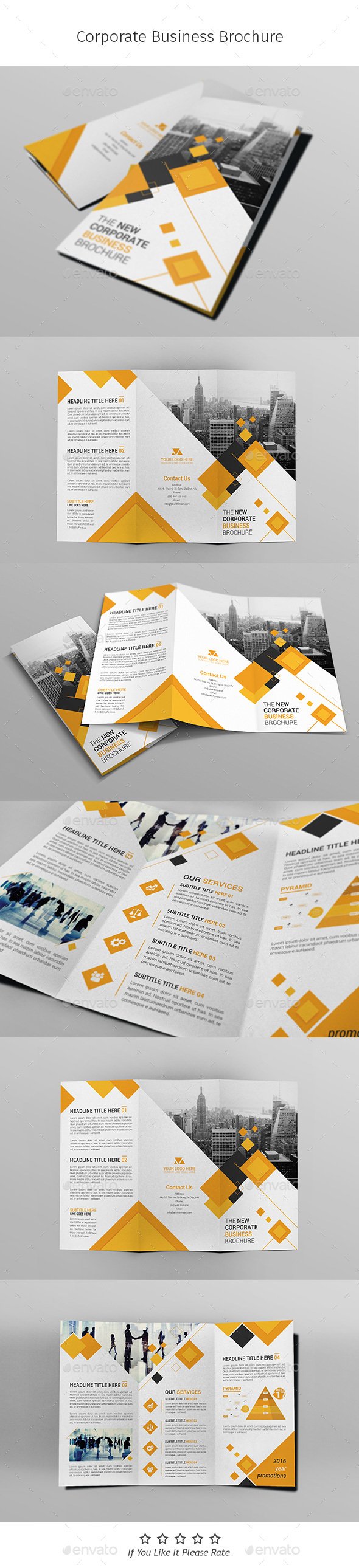 A4 Corporate Business Flyer Template Vol 05 - Corporate Brochures