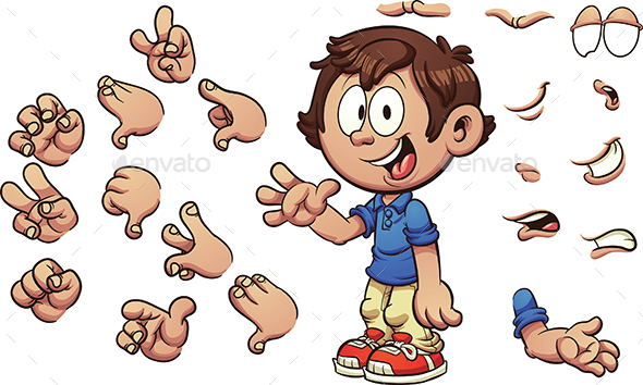 Cartoon Kid - People Characters