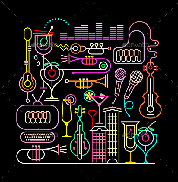 Nightclub Disco Party - Miscellaneous Vectors