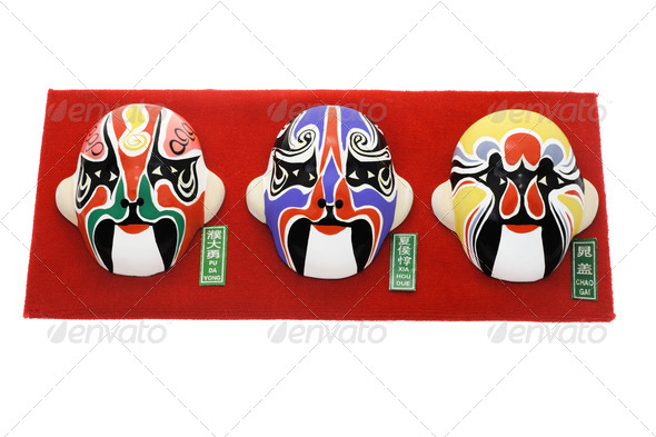 Chinese Beijing opera mask ornaments - Stock Photo - Images