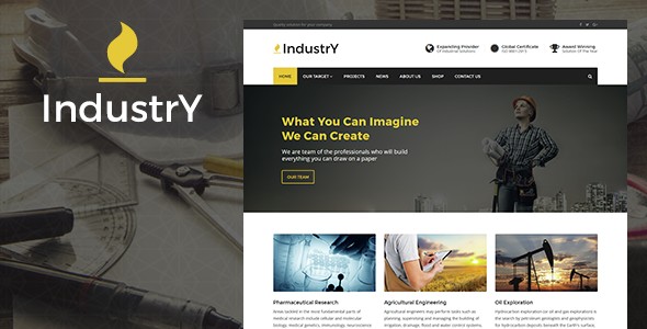 Industry – Factory, Company And Industry WP Theme