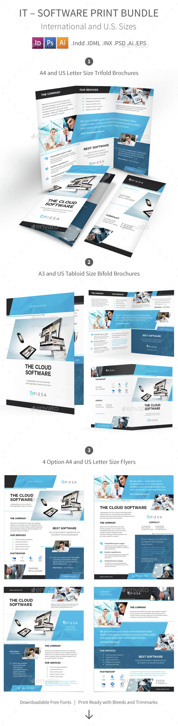 IT – Software Print Bundle 5 - Corporate Brochures