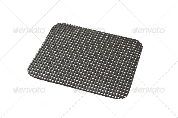 Black desktop non slip matt - Stock Photo - Images