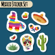 Mexico Bright Sticker Set with National Mexican Objects - GraphicRiver Item for Sale