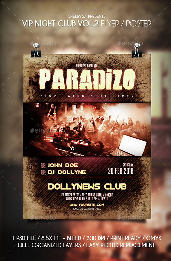 VIP Night Club Flyer / Poster Vol 2 - Clubs & Parties Events