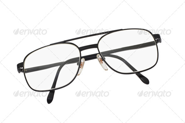 Metal frame spectacles - Stock Photo - Images