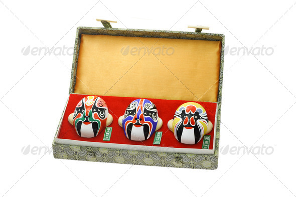 Chinese opera mask ornaments - Stock Photo - Images