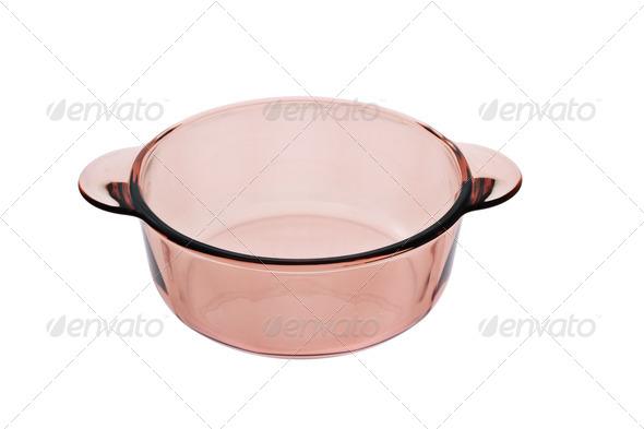 Glass saucepan - Stock Photo - Images