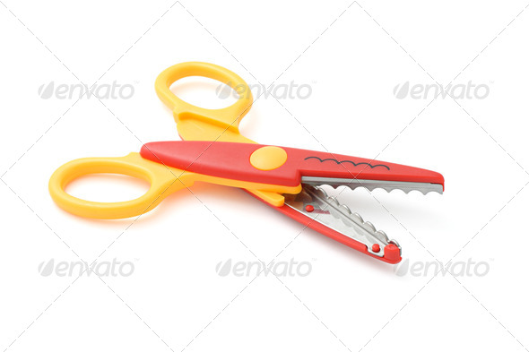 Zigzag scissors - Stock Photo - Images