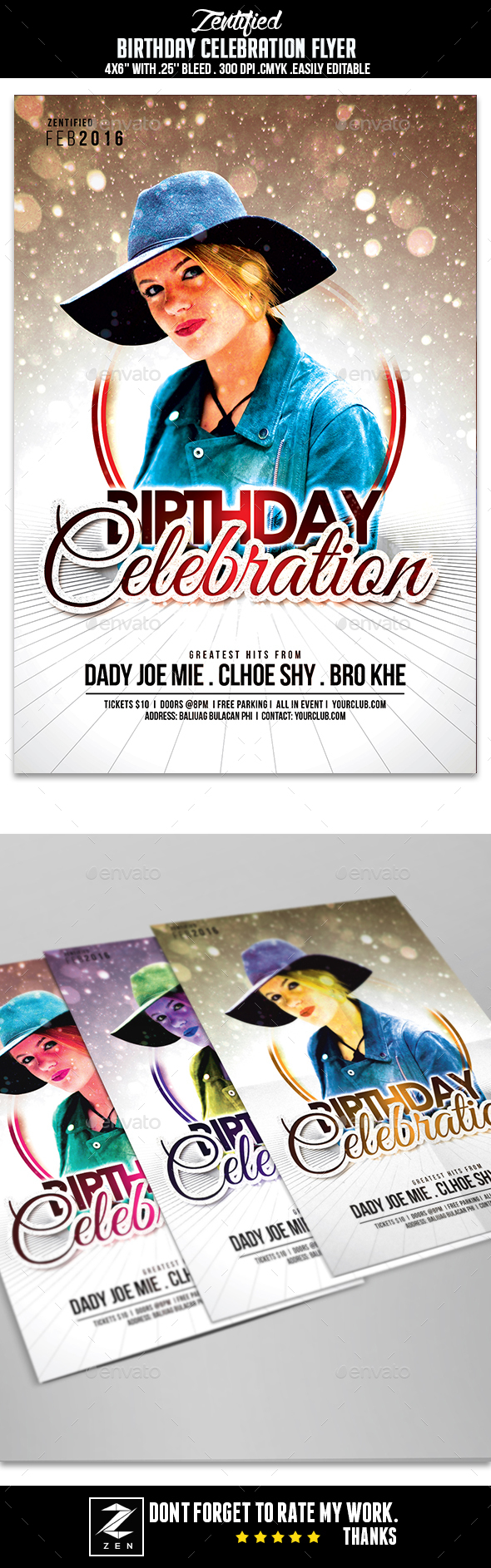 Birthday Celebration Flyer - Events Flyers