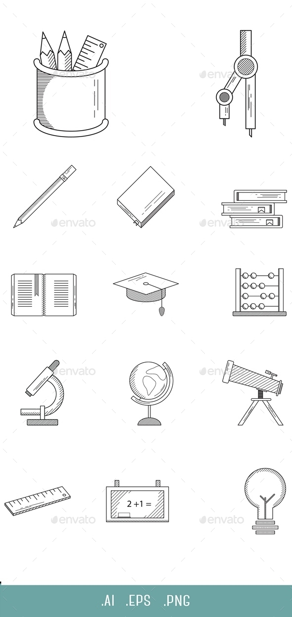 Education Line Icon - Miscellaneous Icons