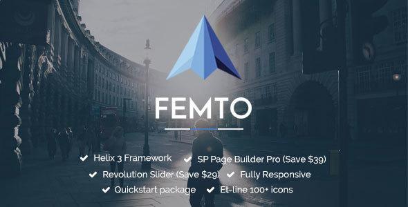 Femto | Responsive Multipurpose Joomla Template