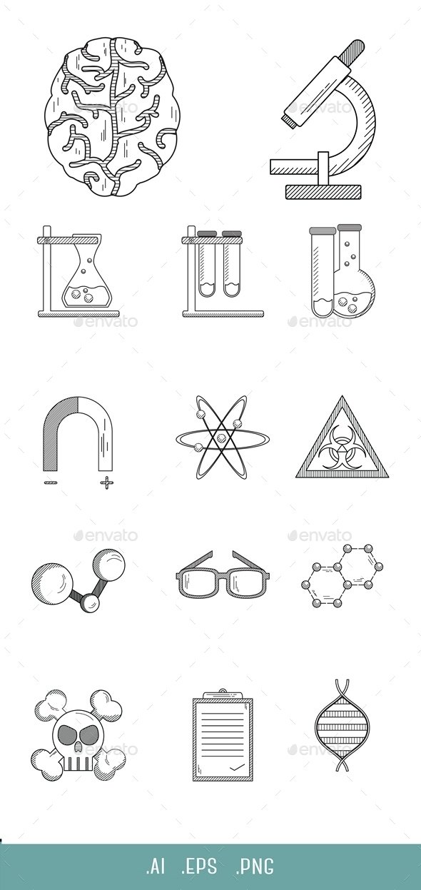 Experiment Science Line Icon - Miscellaneous Icons