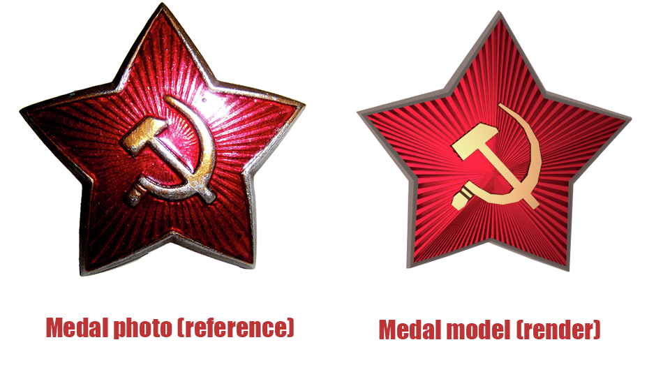 Ussr Medal Red Star Sickle And Hammer By Ckau 3docean