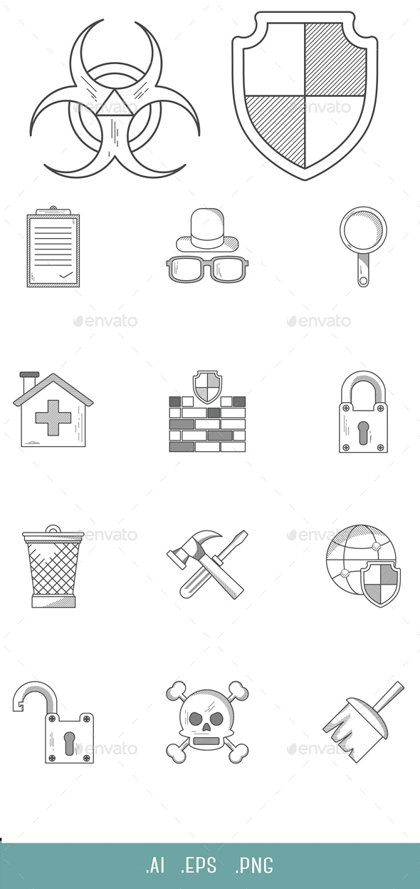 Antivirus Line Icon - Software Icons