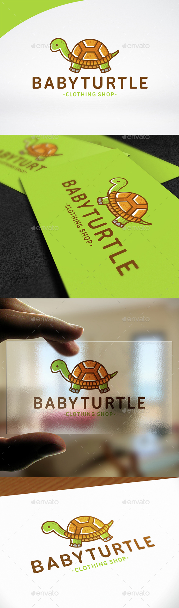 Baby Turtle Logo Template - Animals Logo Templates