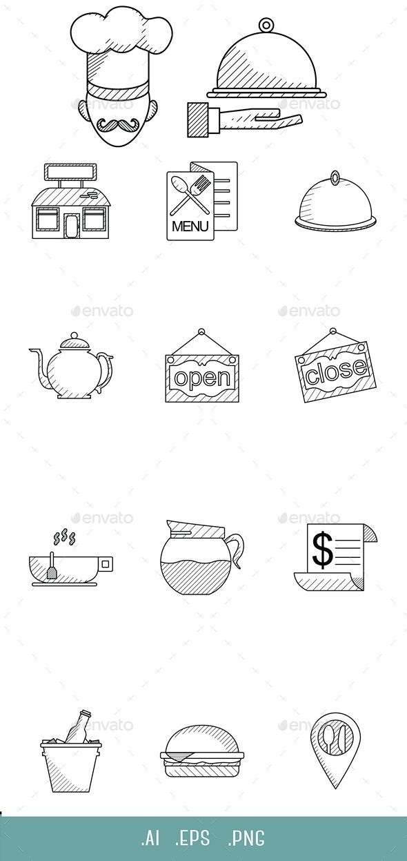 Restaurant Line Icon - Miscellaneous Icons