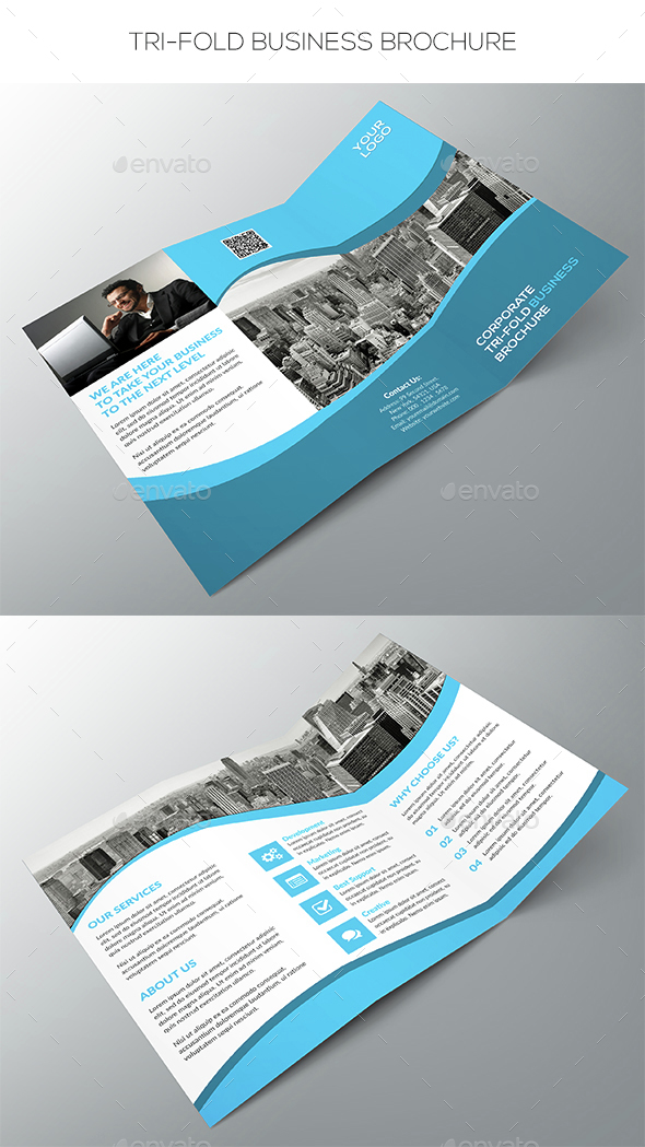 Tri-fold Business Brochure - Corporate Brochures