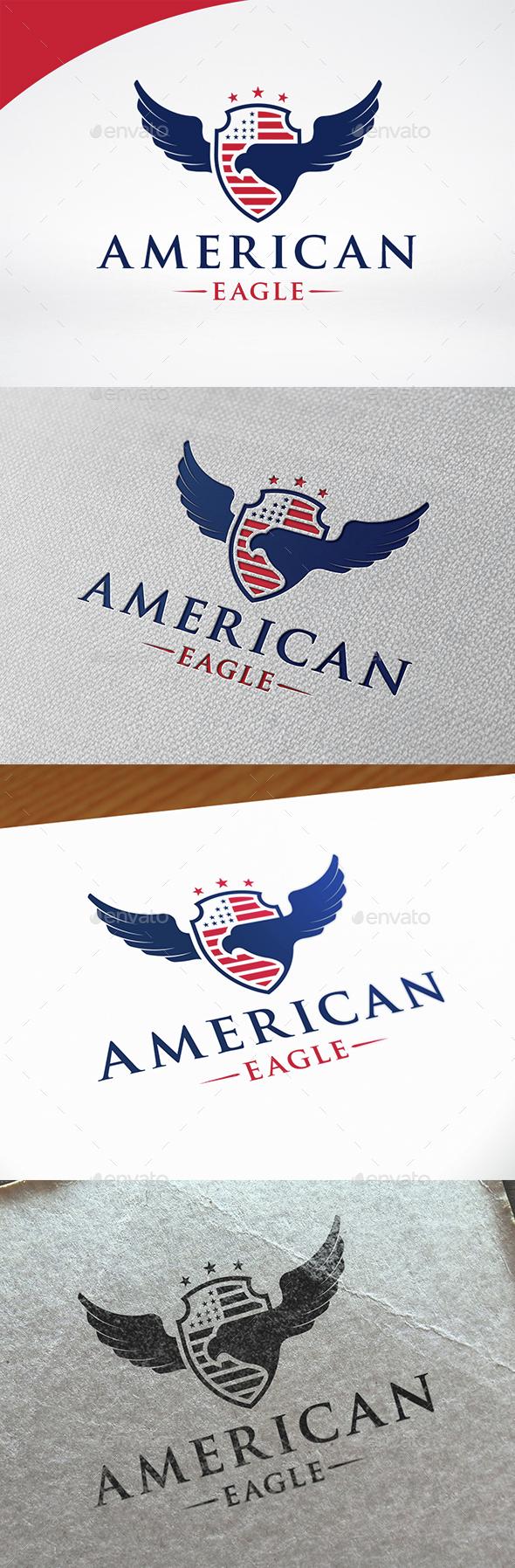 American Eagle Crest Logo - Symbols Logo Templates