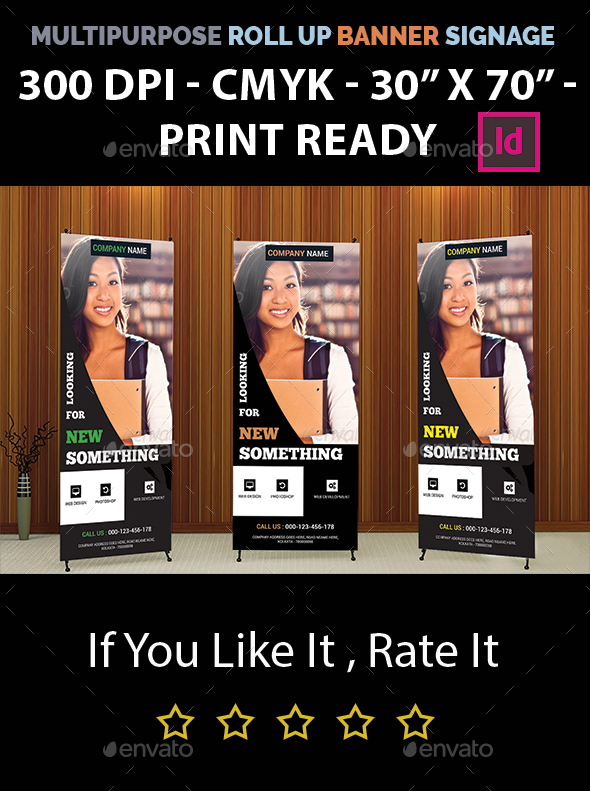 Multipurpose Roll Up Banner Signage - Signage Print Templates