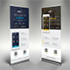 Mobile App Promotion Roll-up Banner - GraphicRiver Item for Sale