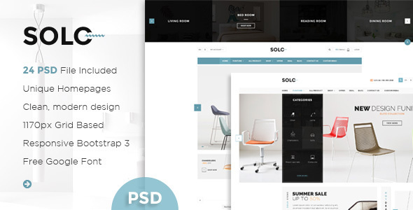Solo - Multi-Purpose eCommerce PSD Template - Retail PSD Templates