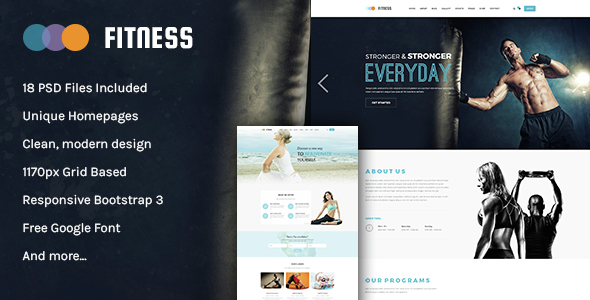 Fitness - Multipurpose PSD Template
