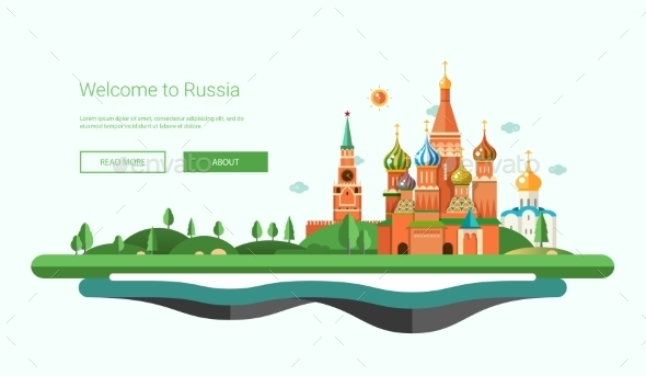Flat Design Banner - Travel Conceptual