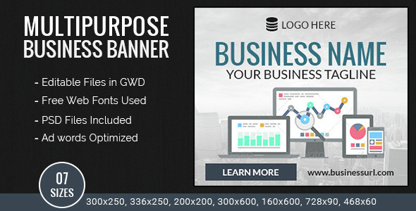 GWD | Business HTML5 Ad Banners - 07 Sizes nulled free download