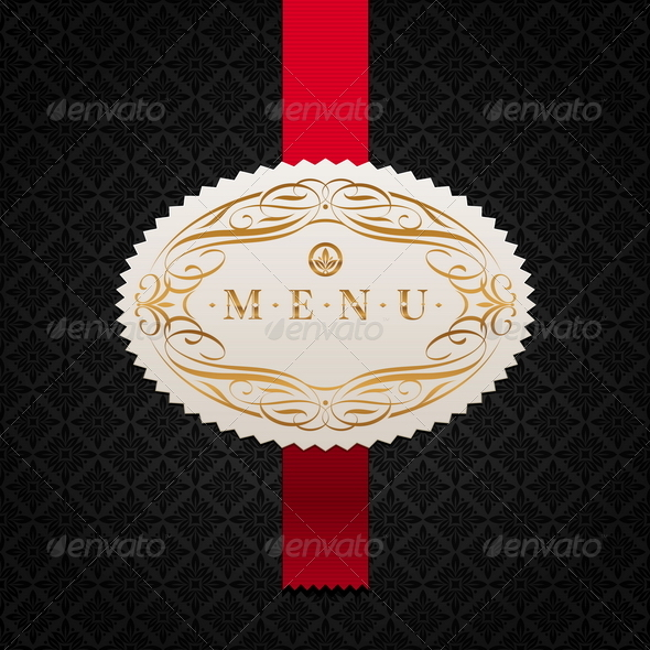 Calligraphic Ornate Label of Menu - Decorative Vectors