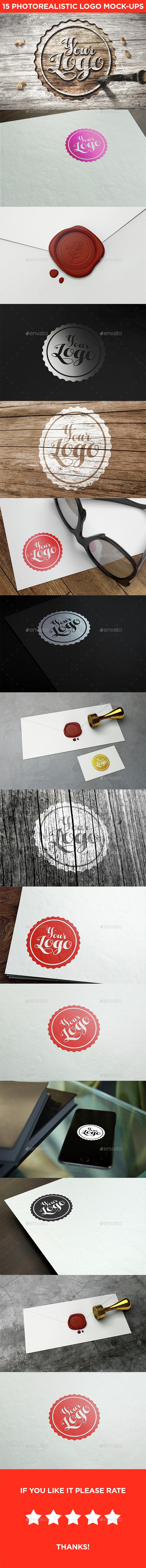 15 Realistic Logo Mock-Ups Vol.2 - Logo Product Mock-Ups