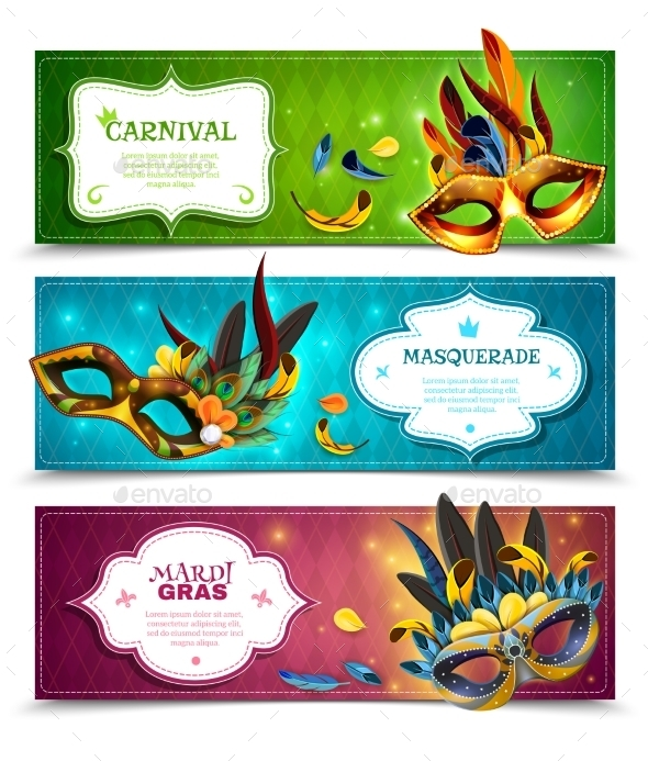 Masquerade Banners Set  - Miscellaneous Seasons/Holidays