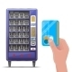 Vending Machine and Hand with Credit Card - GraphicRiver Item for Sale
