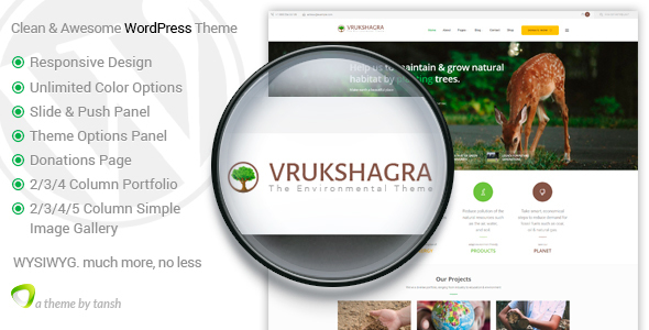 Vrukshagra – Environmental WordPress Theme
