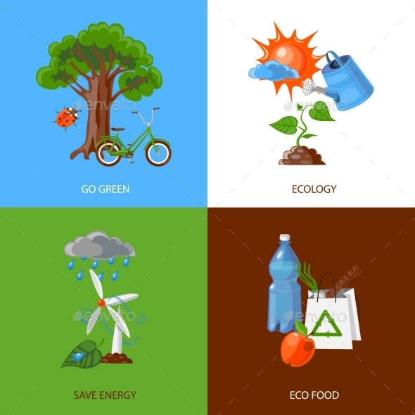 Ecology Design Concept - Decorative Symbols Decorative