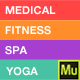 Medical, Spa, Yoga & Fitness Muse Landing Page Template - ThemeForest Item for Sale