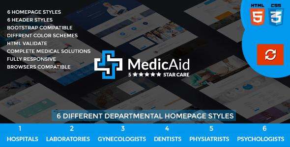 MedicAid - Multi purpose Html Template