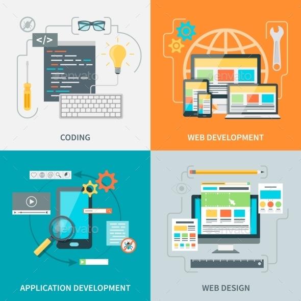 Website Development Picture Set - Web Technology