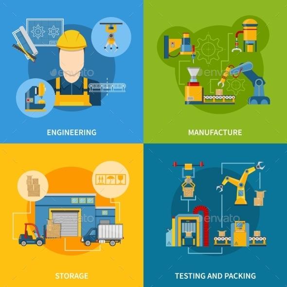 Production Line Concept Design Set - Industries Business
