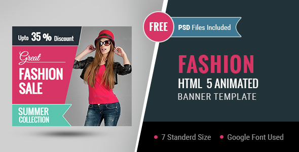 Fashion | HTML5 Google Banner Ad 01 - CodeCanyon Item for Sale