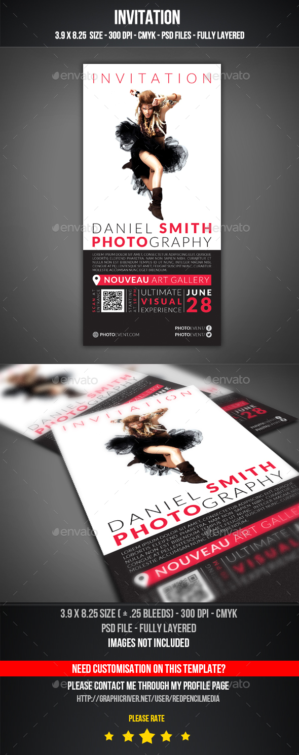 Photography Event Invitation - Invitations Cards & Invites
