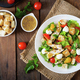 Salad with chicken, mozzarella and cherry tomatoes - PhotoDune Item for Sale
