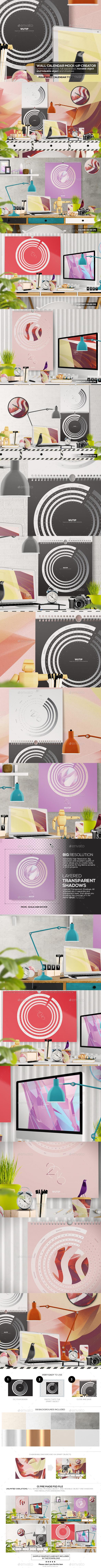 Wall Calendar Mockup Creator - Miscellaneous Print