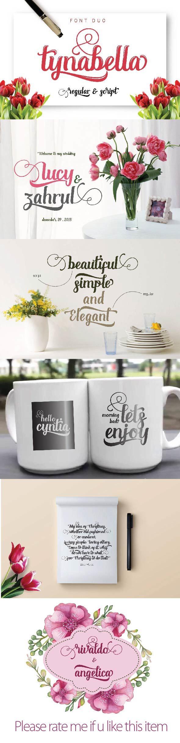 Tynabella Font Duo - Script Fonts