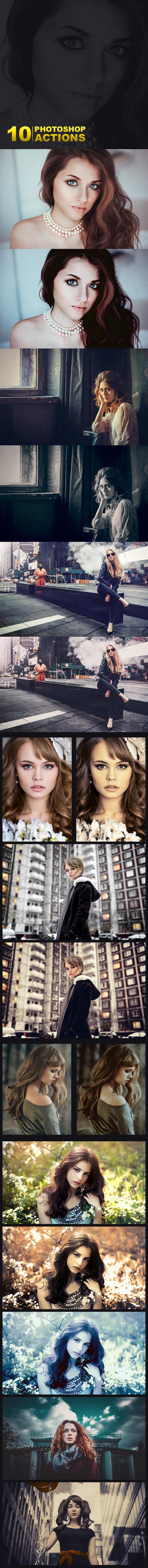10 Premium Photoshop Actions Set - Photo Effects Actions