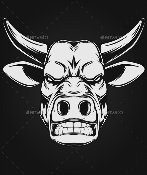 Ferocious Bull - Animals Characters