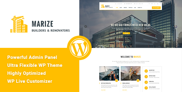 Marize – Construction & Building WordPress Theme